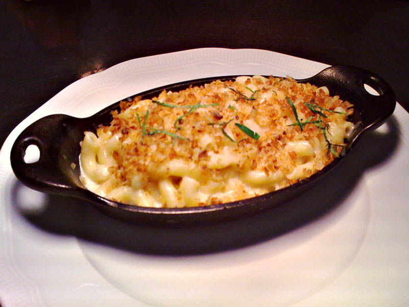 Four-cheese truffle mac and cheese